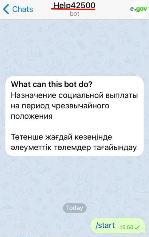 Как подать заявку на выплату 42500 тенге через Телеграм-бот Help42500bot